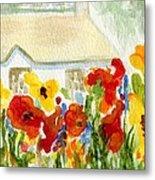 Flower House Metal Print