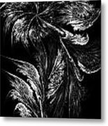 Flower In Black-and-white Metal Print