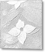 Flower In Pencil Metal Print