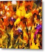 Flower - Iris - Orchestra Metal Print by Mike Savad