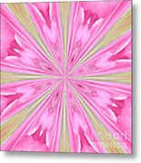 Flower Kaleidoscope Metal Print