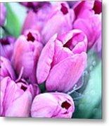 Flower Mart Metal Print