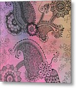 Flower N Leaves Metal Print
