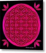 Flower Of Life - Pink Metal Print