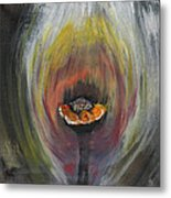 Flower On Fire Metal Print