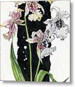 Flower Orchid 06 Elena Yakubovich Metal Print by Elena Yakubovich