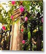 Flower Post Metal Print