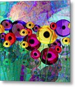 Flower Power Abstract Art  Metal Print