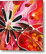 Flower Power - Abstract Floral By Sharon Cummings Metal Print