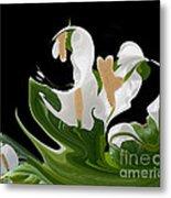 Flower Power Abstract Metal Print