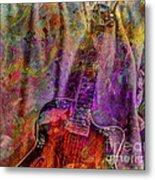 Flower Power Digital Guitar Art By Steven Langston Metal Print
