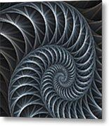 Flower Spiral Metal Print