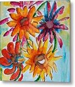 Flower Splash Metal Print