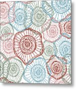 Flower Squiggle Metal Print