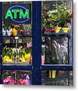 Flower Stand Nyc Metal Print