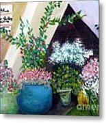 Flower Stand On Worth Ave In Palm Beach Metal Print
