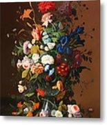 Flower Still Life With A Bird's Nest Metal Print
