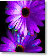Flower Study 6 - Vibrant Purple By Sharon Cummings Metal Print