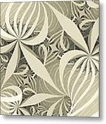 Flower Swirl Metal Print