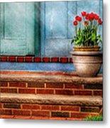 Flower - Tulip - A Pot Of Tulips Metal Print