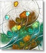 Flower Wind Metal Print
