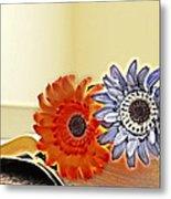 Flowerecent Metal Print