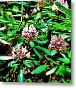Flowered Tree Metal Print