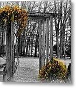 Flowering Archway Metal Print