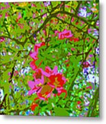 Flowering Blossoms Tree Paint Style Metal Print