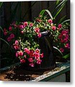 Flowering Coffee Pot Metal Print