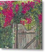 Flowering Gateway Metal Print