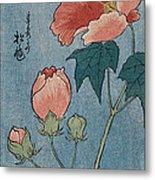 Flowering Poppies Tanzaku Metal Print