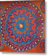 Flowering Waves Tray Metal Print