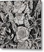 Flowers Abstract Metal Print