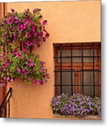 Flowers And A Window Metal Print