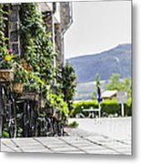 Flowers And Bikes Metal Print by Stefano Piccini