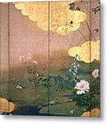 Flowers And Birds Of The Four Seasons Metal Print