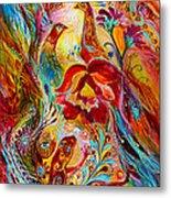 Flowers And Fruits Metal Print by Elena Kotliarker