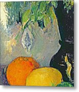 Flowers And Fruits Metal Print