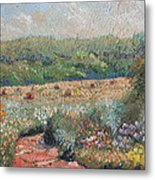 Flowers And Hay Metal Print by William Killen