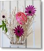 Flowers And The Egg Metal Print