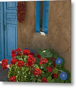 Flowers At Ranchos De Taos Metal Print