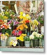 Flowers At The Bi-rite Market In San Francisco  Metal Print