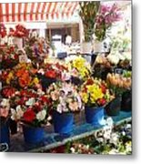 Flowers At The Market Metal Print