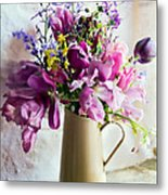 Flowers At The Post Office Metal Print