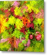 Flowers By The Brush Metal Print