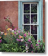 Flowers By The Window Metal Print