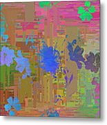 Flowers Cubed 1 Metal Print
