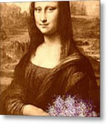 Flowers For Mona Lisa Metal Print