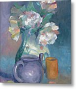 Flowers For My Chick Metal Print